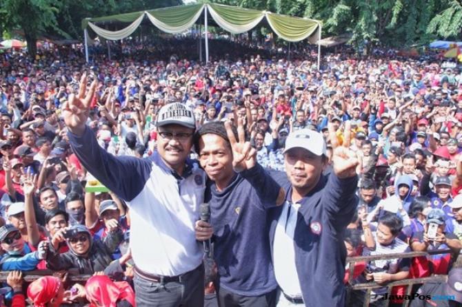 Gus Ipul Nyatakan Perjuangkan Pemerataan Upah Buruh