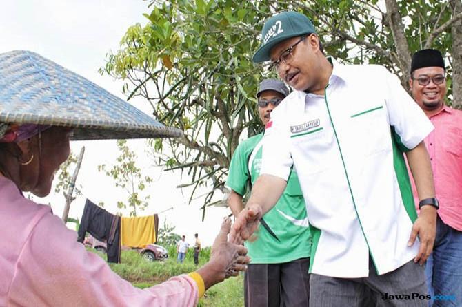 Gus Ipul Panen Melon Bersama Petani Difabel Lamongan