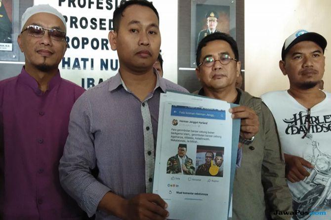Foto Jokowi dan Ketua GP Ansor Diedit mirip dajjal dan tengkorak ujaran kebencian