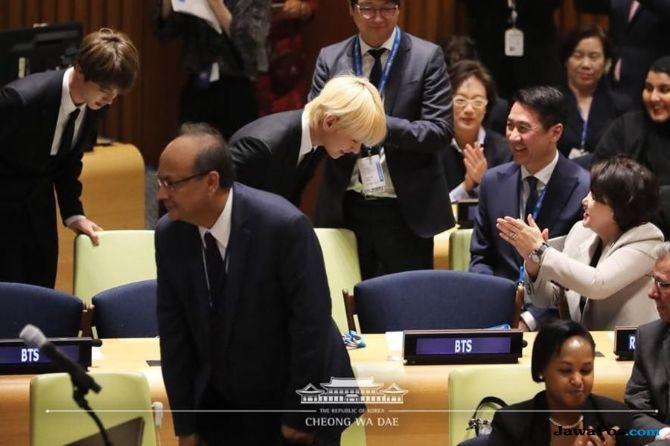 Hadir di PBB, Ibu Negara Korea Selatan Bangga dan Beri BTS Hadiah