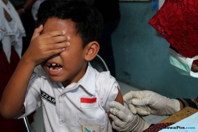 Hanya Efektif Seminggu Sekali, Vaksin MR di Kepri Baru 44 Persen