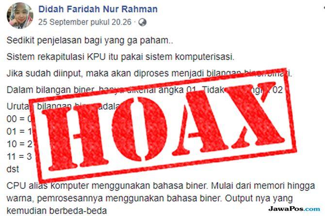 Hoax Hasutan Angka 0 dalam Nomor Urut Capres Rugikan Prabowo-Sandi