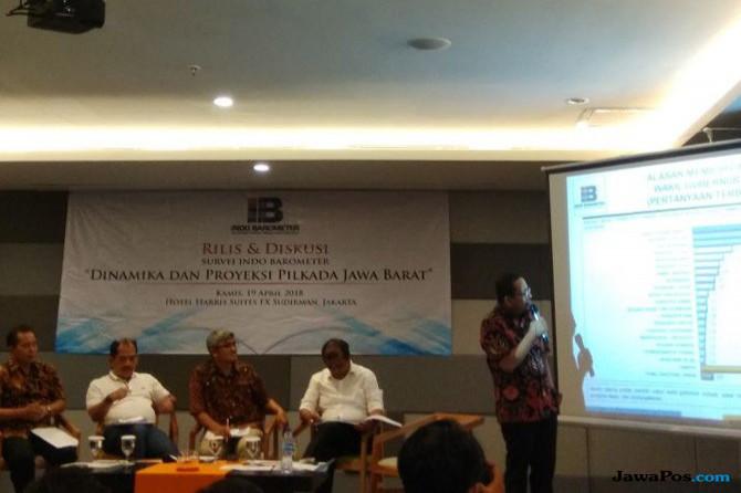 Indo Barometer: Elektabilitas Rindu Tergerogoti Tiga Paslon Lain