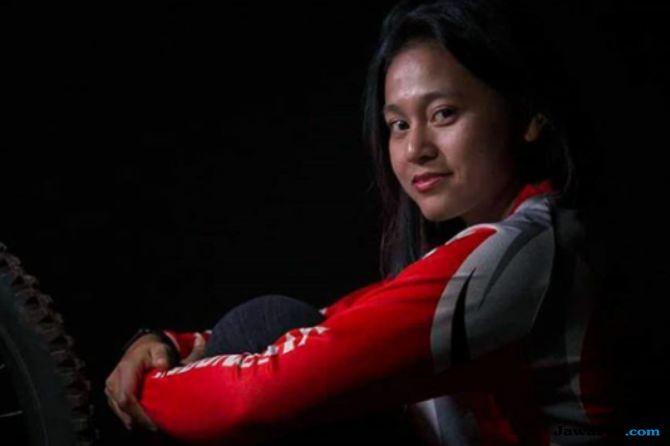Asian Games 2018, balap sepeda, downhill, Indonesia, Tiara Andini Prastika