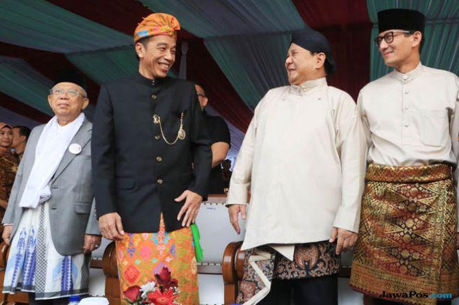 Intip Kemesraan Jokowi Prabowo Deklarasi Kampanye Damai