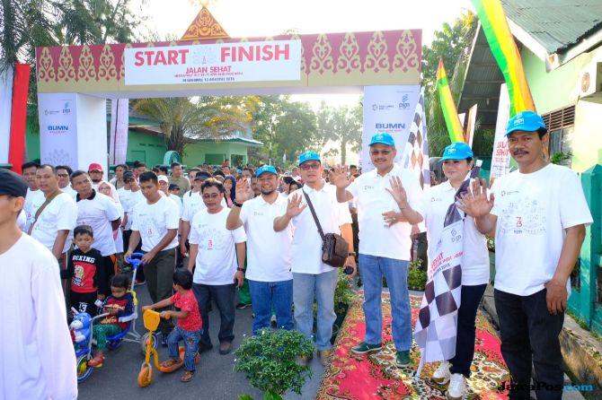 Jalankan Program BUMN, PGN Ajak Masyarakat Pekanbaru Berolahraga