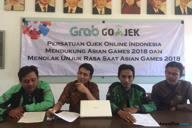 demo ojek online, demo asian games, ojek online asian games