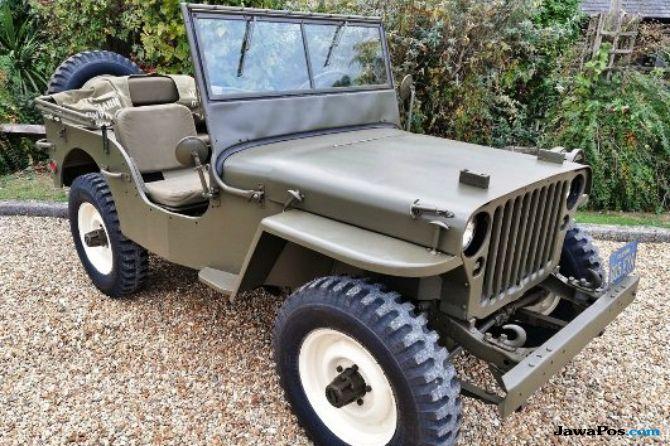 Jeep Klasik Perang Dunia ke-2 Bintang Hollywood dibanderol Rp 1,9 M