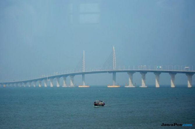 jembatan terpanjang, hongkong, tiongkok,