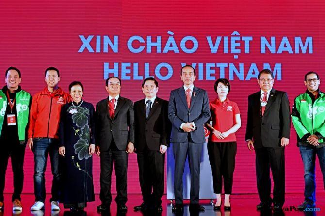 Jokowi Apresiasi Peluncuran Go-Jek Indonesia Di Vietnam
