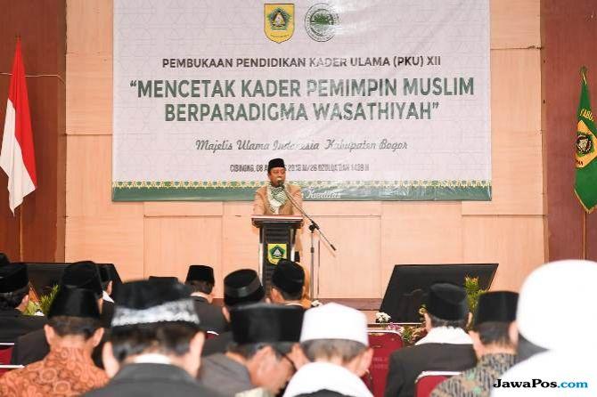 Jokowi dan Rommy Kompak Bicara Islam Moderat di Depan Ulama