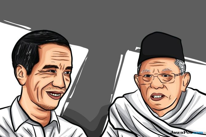 Jokowi Maruf Amin Terapkan Strategi Total Football Cawapres