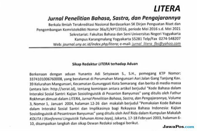 Karya Ilmiah Rektor UNNES