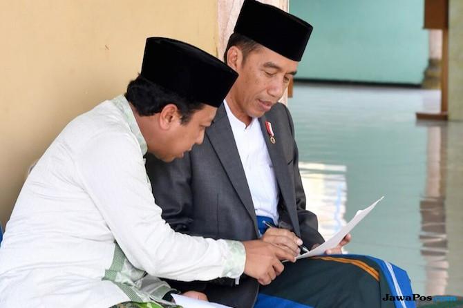 Ketua Umum PPP Romahurmuziy dan Jokowi.
