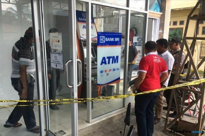 Kawanan Pencuri Gasak Uang Puluhan Juta Dari ATM BRI yang Baru Diisi