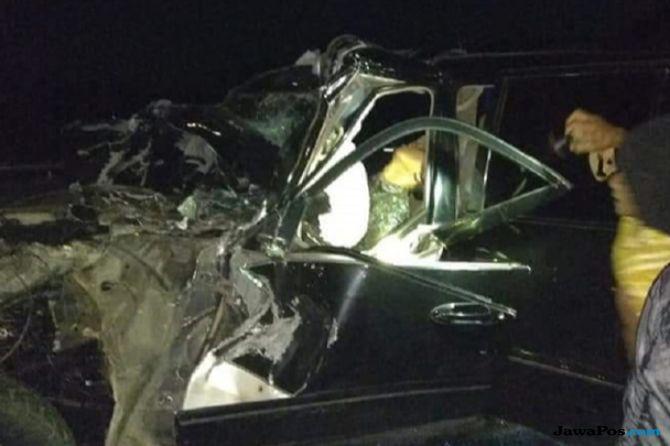 Kecelakaan di Tol Sumo, Kapolres Tulungagung Terima Santunan