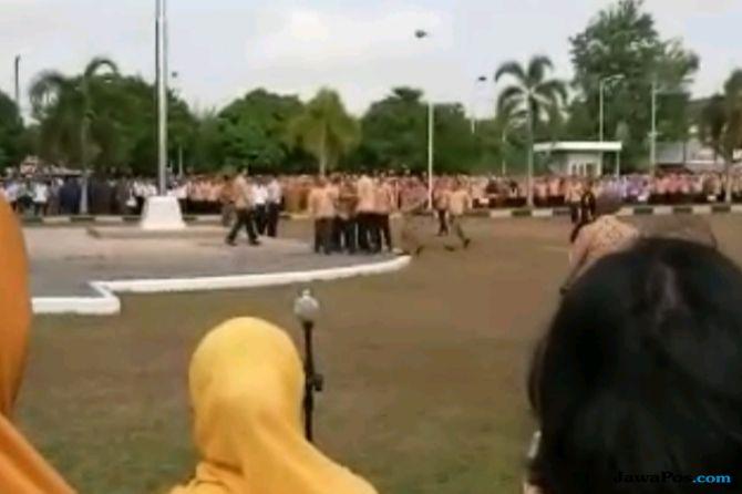 Kericuhan Saat Apel Pemkot Prabumulih Kadi Perhatian Gubernur Sumsel