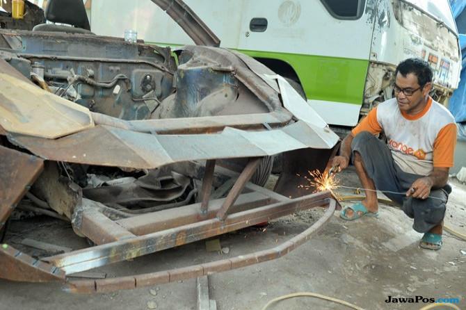 Kisah Bengkel di Banjarmasin Mereplika Lamborghini Aventador