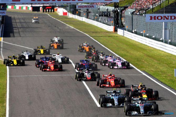 Formula 1 2018, F1, GP Jepang, Sebastian Vettel, Kimi Raikkonen, Lewis Hamilton, Vaktteri Bottas, Daniel Ricciardo, Max Verstappen, Fernando Alonso