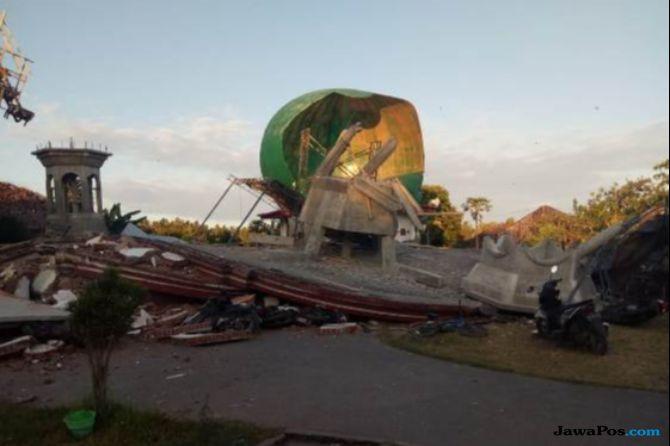 Korban Gempa Lombok Masih Tertimbun di Masjid