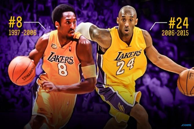 Lakers Pensiunkan Dua Nomor Kobe Bryant Sekaligus