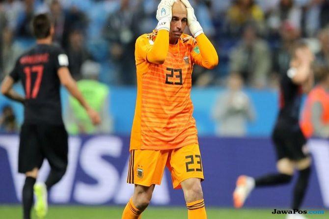 Piala Dunia 2018, Timnas Argentina, Timnas Kroasia, Argentina vs Kroasia, Sola Aoi, Wilfredo Caballero, Lionel Messi,