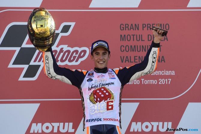 Marc Marquez, Repsol Honda, Ducati, Andrea Dovizioso, MotoGP Valencia, MotoGP, Marc Marquez Juara MotoGP 2017