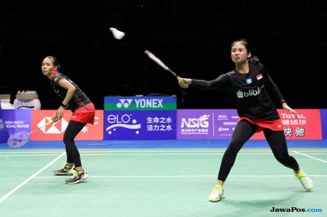Kejuaraan Dunia 2018, Della Destiara Haris/Rizki Amelia Pradipta, Anggia Shitta Awanda/Ni Ketut Mahadewi Istarani