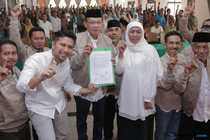 Masyarakat Desa Hutan Deklarasikan Dukungan ke Khofifah-Emil