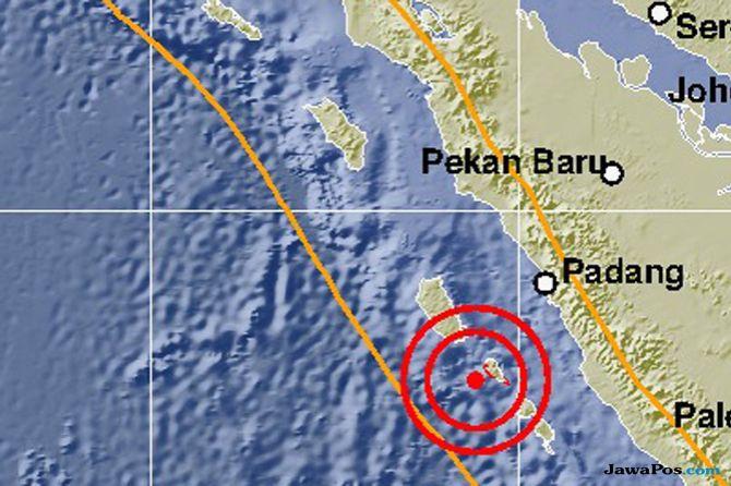 Mentawai Dihantam 4 Kali Gempa Beruntun, Warga Diminta Tidak Panik