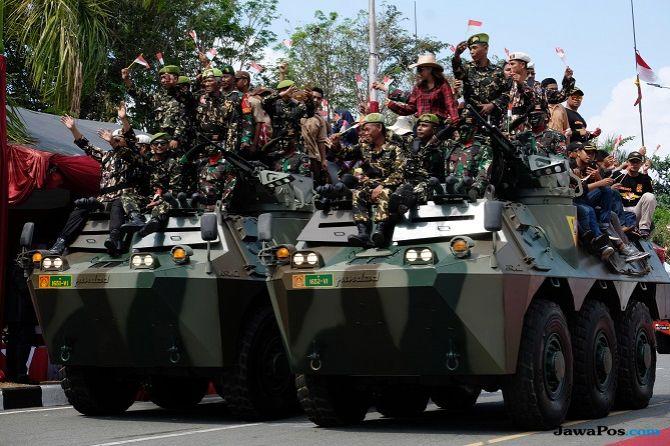Meriahnya HUT ke-73 TNI di Balikpapan