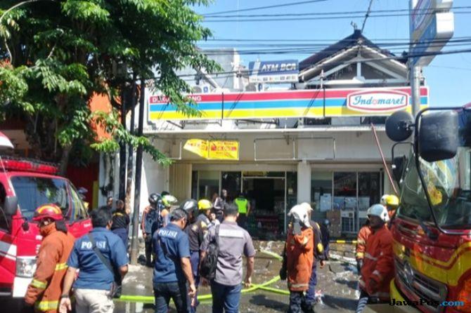 Minimarket di Dukuh Kupang Terbakar, Sempat Terdengar Suara Ledakan