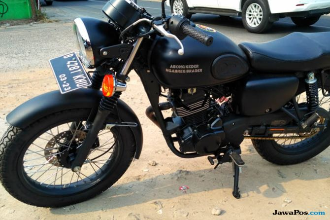 Modal Rp 3 Juta, Modifikasi Kawasaki W175 Tampil Layak Triumph Jadul