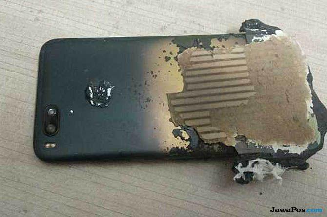 Xiaomi Mi A1, Xiaomi Mi A1 meledak, Xiaomi Mi A1 terbakar