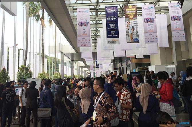 Obral Tiket Murah, Garuda Travel  Fair Digeruduk Pengunjung