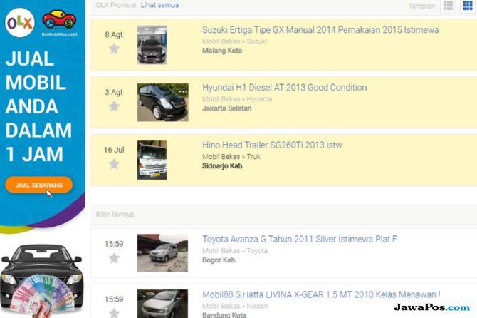 OLX Gandeng BeliMobilGue.co.id: Satu Jam Jual Mobil Langsung Laku