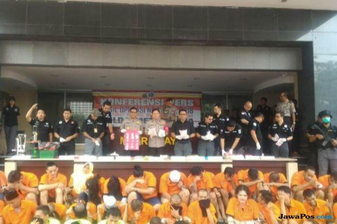 Operasi Nila Jaya, 539 Bandar dan Pengedar Narkoba Dibekuk Polisi