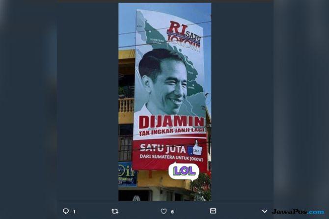 Parah! Baliho Jokowi Diedit