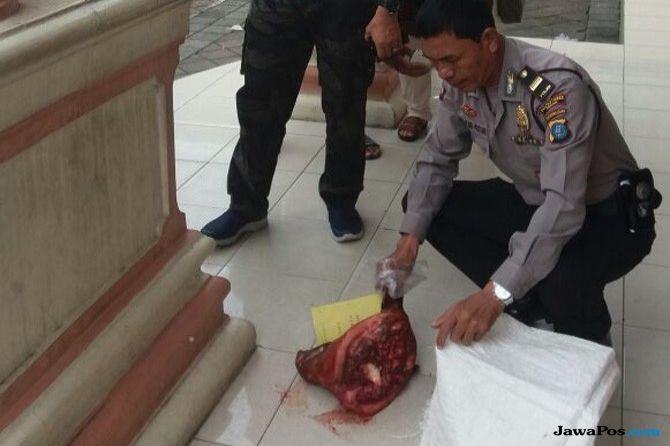 Pelaku Pelempar Kepala Babi Ditangkap, Ternyata Ini Motifnya