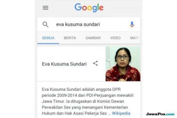 Pencemaran Nama Baik, Polisi Buru Hacker Pengubah Nama Eva Sundari