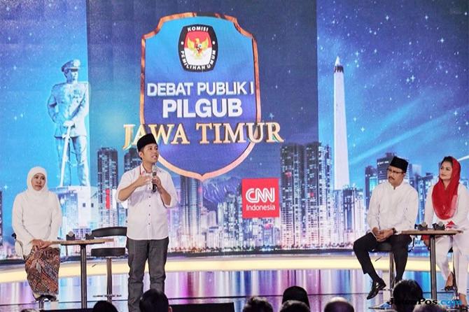 Pengamat: Khofifah-Emil Unggul di Debat Perdana Pilgub Jatim