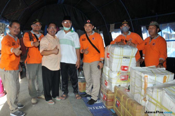 Pengungsi Gempa Sulteng Nikmati Bantuan 1,5 Ton Rendang