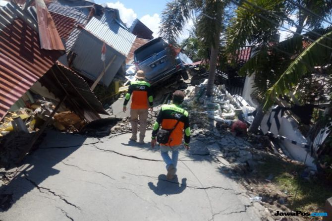 Ilustrasi gempa di Donggala dan Palu.