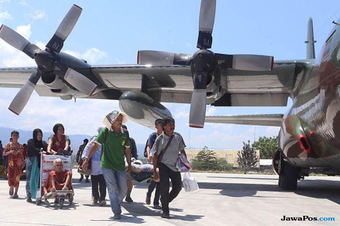 Pesawat Hercules Lebih Diprioritaskan untuk Angkut Bantuan ke Palu