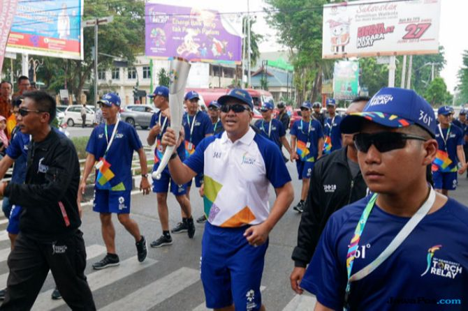 PGN Kawal Torch Relay Asian Games 2018 di Jambi