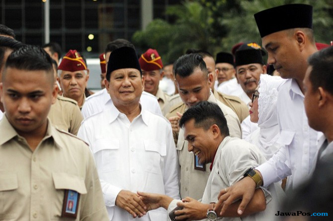 Pilpres 2019, Prabowo Subianto, Jokowi, Partai Gerindra