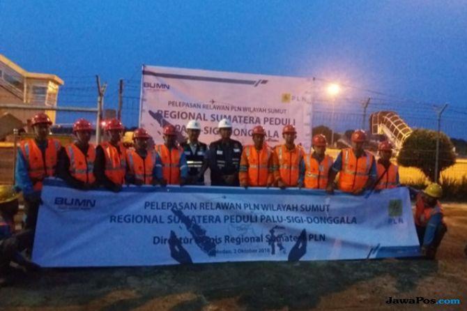 PLN Sumut Kirim Relawan Ke Palu Bantu Perbaikan Jaringan Listrik