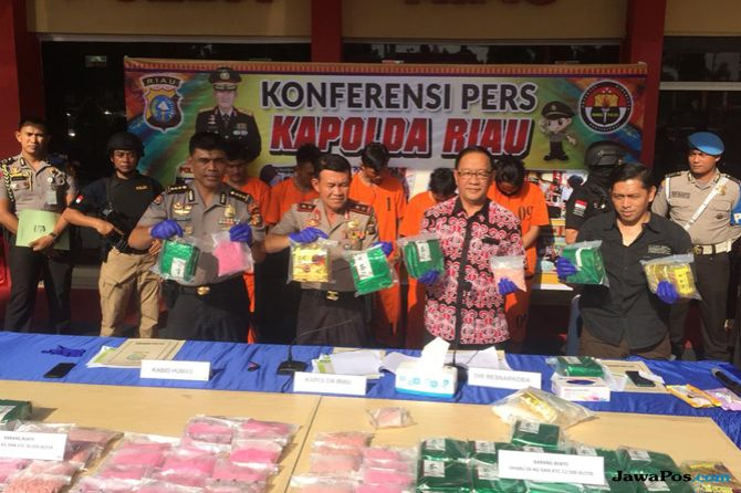 Polda Riau Gagalkan Peredaran Narkoba Senilai Rp 42 Miliar