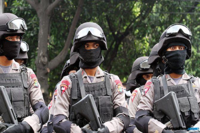 Polda Riau Kirim Satu Kompi Brimob ke Palembang