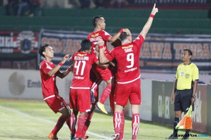 Persija Jakarta, Liga 1 2018, Perseru Serui, Klasemen Liga 1 2018